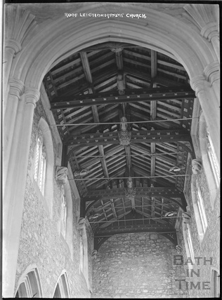 Roof, inside St Giles's Church, Leigh on Mendip, c.1931