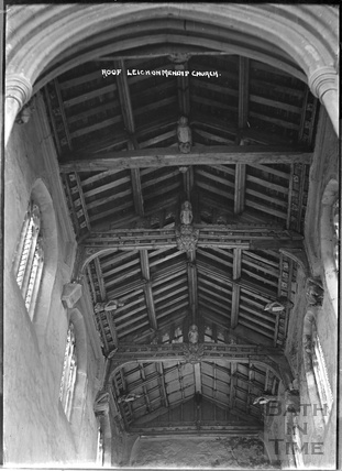 Roof, inside St Giles's Church, Leigh on Mendip, Somerset, c.1931