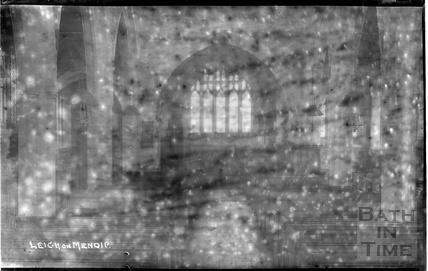 Inside St. Giles's Church, Leigh on Mendip c.1935