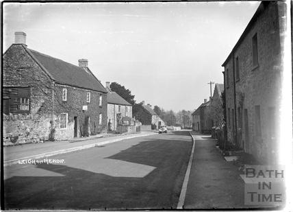 Street scene, Leigh on Mendip, Somerset 28 June 1935