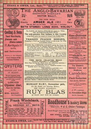 Further information about the party of Siuox Indians appearing in White Lily, Theatre Royal, Bath November 23 and for the week 1891