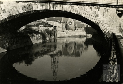 View under St James bridge, 1950s