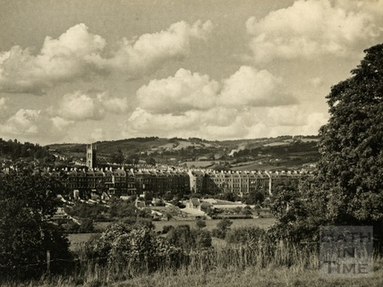 Grosvenor viewed across Kensington Meadows, Bath, 1950s