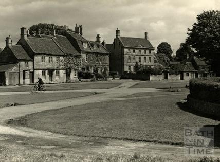 The village green at Biddestone, 1950s