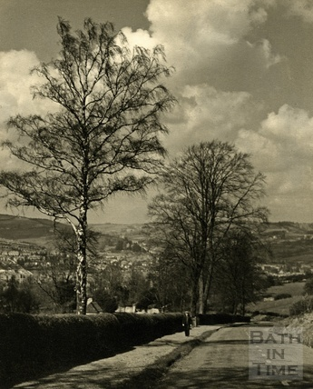 Spring sunshine on North Road, Bath, 1950s