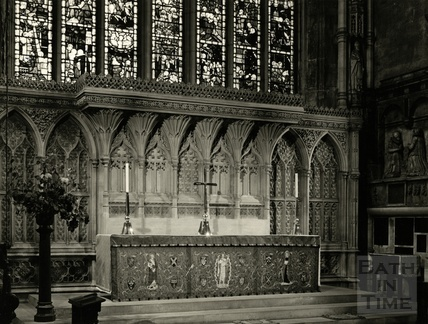 Inside Bath Abbey, 1950s