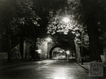 The old railway viaduct, Pulteney Road, 1960s