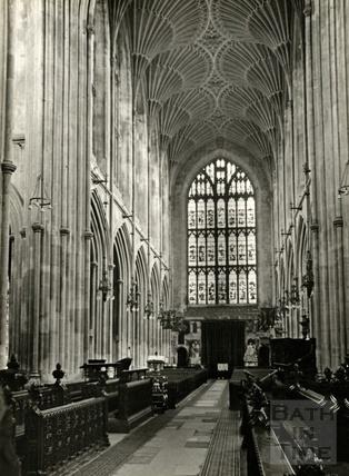 Interior of Bath Abbey, 1950s