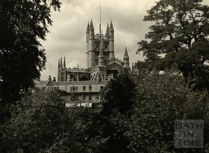 View of Bath Abbey, 1950s