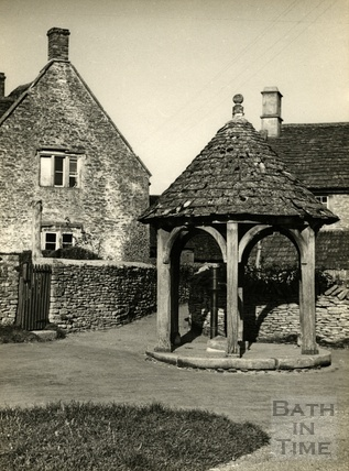 The pump at Biddestone, 1950s