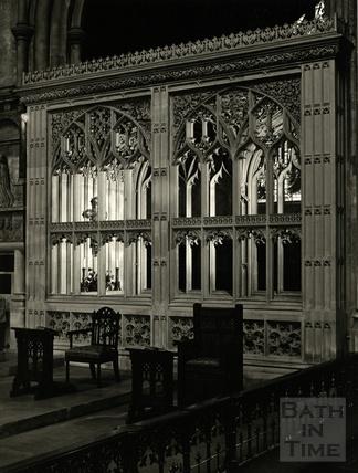 Inside Bath Abbey, 1950s