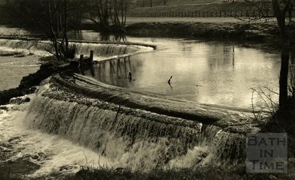 Cascade, Warleigh Weir, 1950s