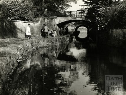 The Kennet and Avon Canal, Sydney Gardens, Bath 1950