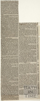 A detailed account of the inauguration of the New Bath Corn Market, Sept 10 1855
