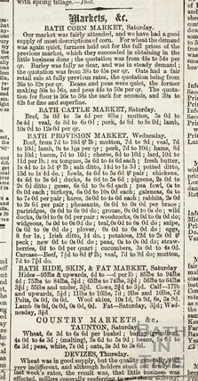A summary of the business of the various markets in the area, including the Corn Market, March 11 1860