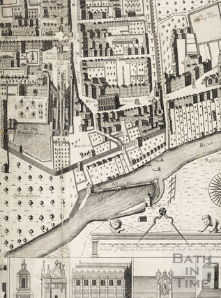 Joseph Gilmore's Map of the City of Bath 1694-1717 - detail