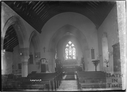 Inside St Andrews Church, Ansford, near Castle Cary, Somerset, 1935
