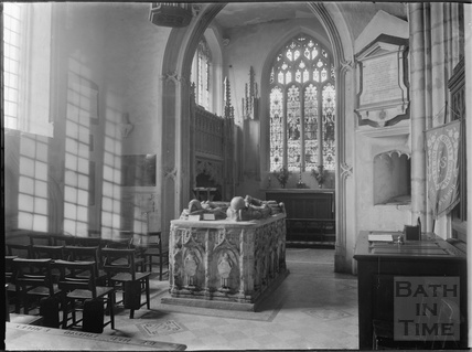 Inside the Church of St Mary, Yatton, North Somerset c.1930s