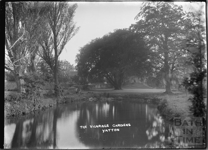 The Vicarage Gardens and pond, Yatton, North Somerset, c.1930s