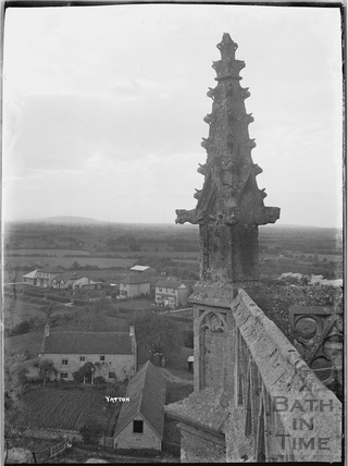 View form the tower of the Church of St Mary, Yatton, North Somerset c.1930s