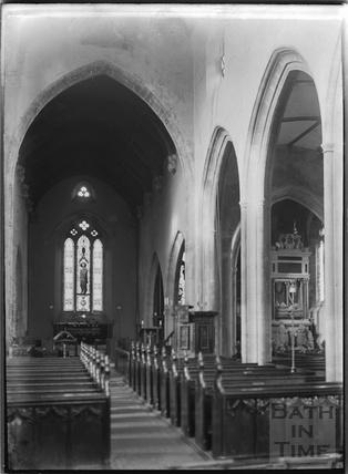 Inside Wellington church, Somerset, 1932