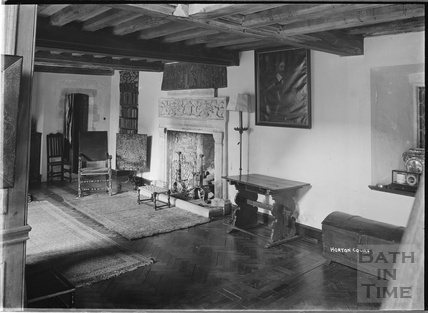Inside Horton Court, South Gloucestershire, c.1930s