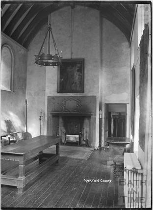 Inside Horton Court, South Gloucestershire, c.1930s