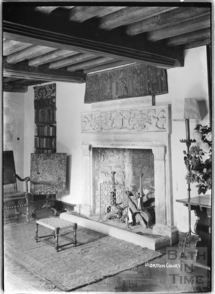 Fireplace inside Horton Court, South Gloucestershire, c.1930s