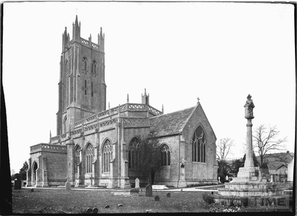 All Saint's church, Wrington, North Somerset, June 1935