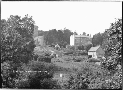 St John the Evangelist church and rectory, Elkstone, Gloucestershire, c.1934