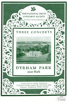 Programme for Three Concerts at Dyrham Park, either 1961 or 1967