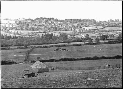 View of Holcombe, near Stratton on the Fosse, near Radstock, Somerset, March 1938