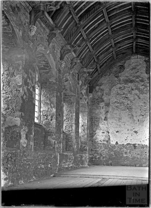 Inside Cleeve Abbey, near Washford, Somerset, c.1930s