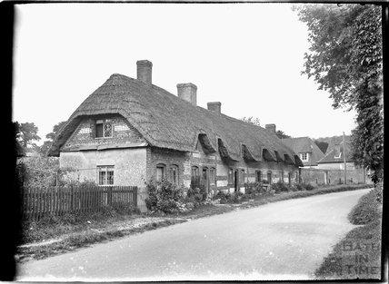 Thatched cottages, Tidworth, Wiltshire, c.1930s