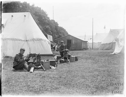 Junior machine gunners, Camp Officers Training Camp, Tidworth, Wiltshire 1927