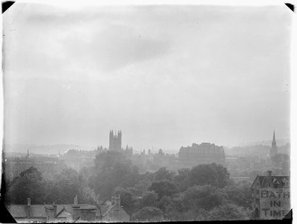 View of Bath Abbey from Sydney Buildings c.1910s