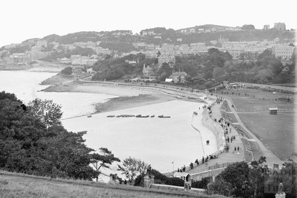 View of Clevedon and pier c.1930 - detail