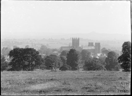 View of Wells Cathedral, c.1930s