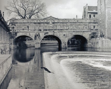 Pulteney Bridge and weir, pre 1973
