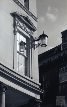 Wall mounted streetlamp on a newly restored building on Bath Street, c.1980s
