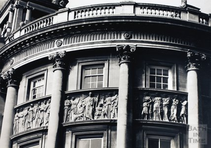 Frieze on the north wing of the Guildhall, High Street, Bath  1979