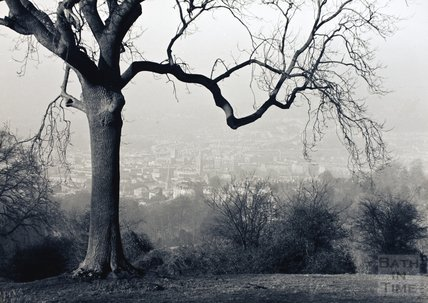 Mist over the city, a view of Bath from Rainbow Woods, c.1980s