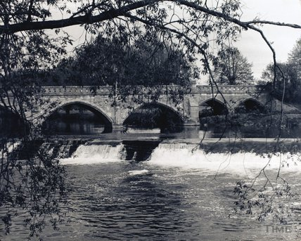 The toll bridge at Bathampton and weir, pre 1973