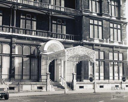 Entrance canopy to the Empire Hotel, Orange Grove, Bath, pre 1973