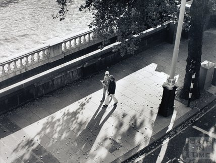 Autumn Stroll, on the Embankment in London, pre 1973