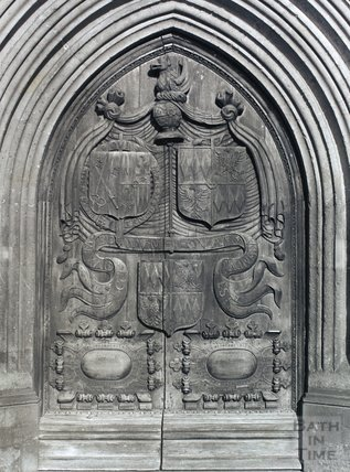 Bath Abbey, west door, pre 1973