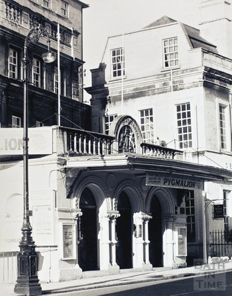 The entrance to The Theatre Royal, Sawclose, Bath, pre 1973