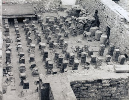 Roman Hypocaust, Roman Baths, Bath, pre 1973