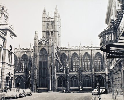 Bath Abbey from the north, pre 1973