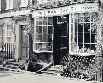 Philippa Savery antiques and Elton House, 2, Abbey Street pre-1973